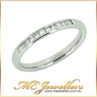 Channel Set Diamond Wedding Ring - Melbourne