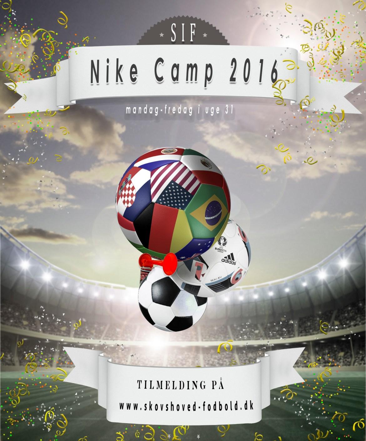 Skovshoved IF afholder Nike Camp fra 1. - 5. august 2016.