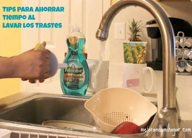 Tips para ahorrar tiempo al lavar los trastes