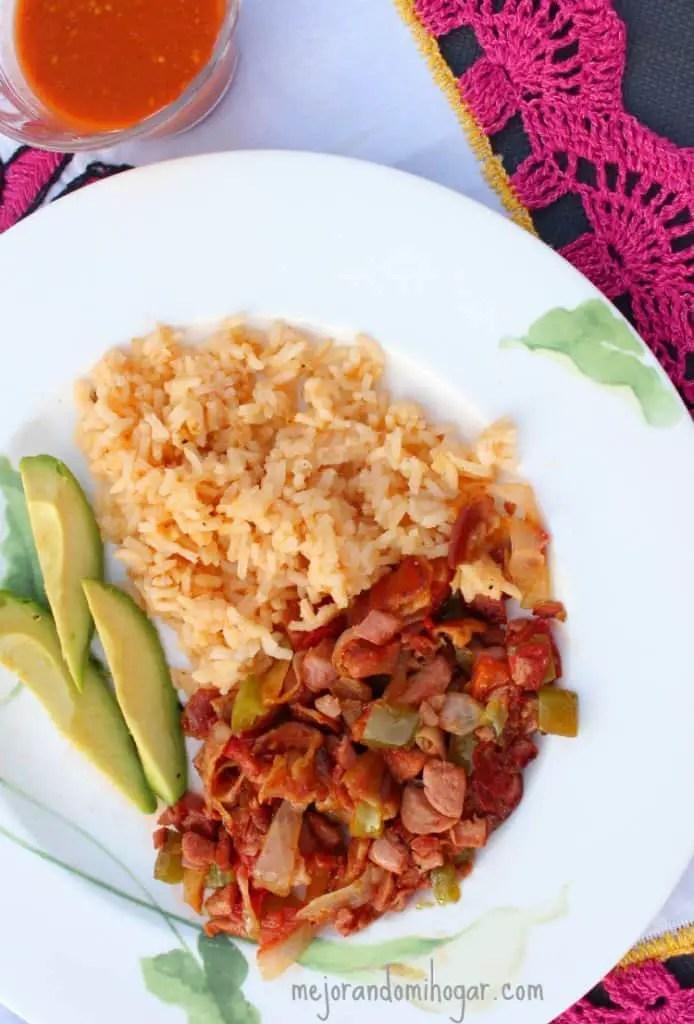 Tacos de Salchicha a la Mexicana