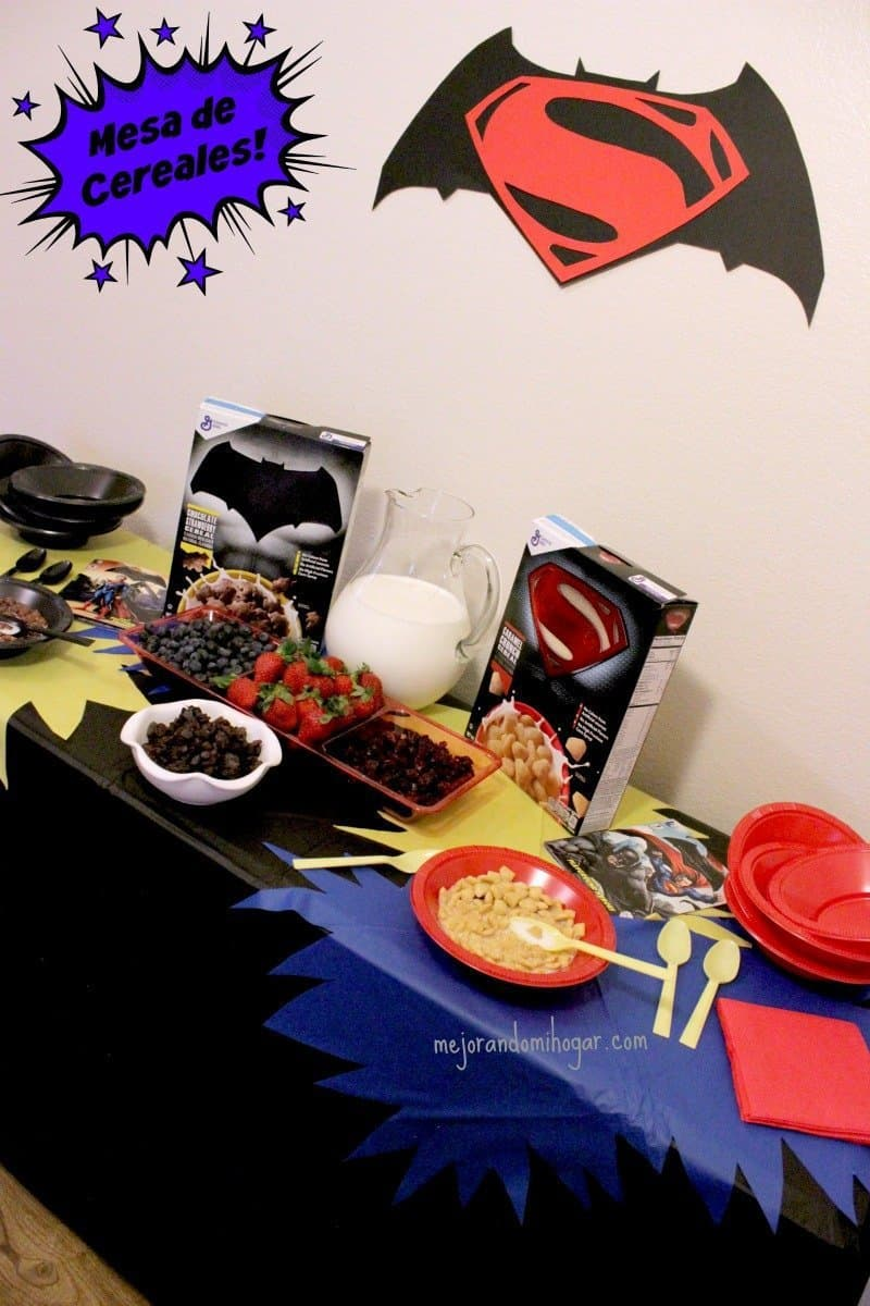 Mesa de Cereal de Super Heroes Batman V Superman