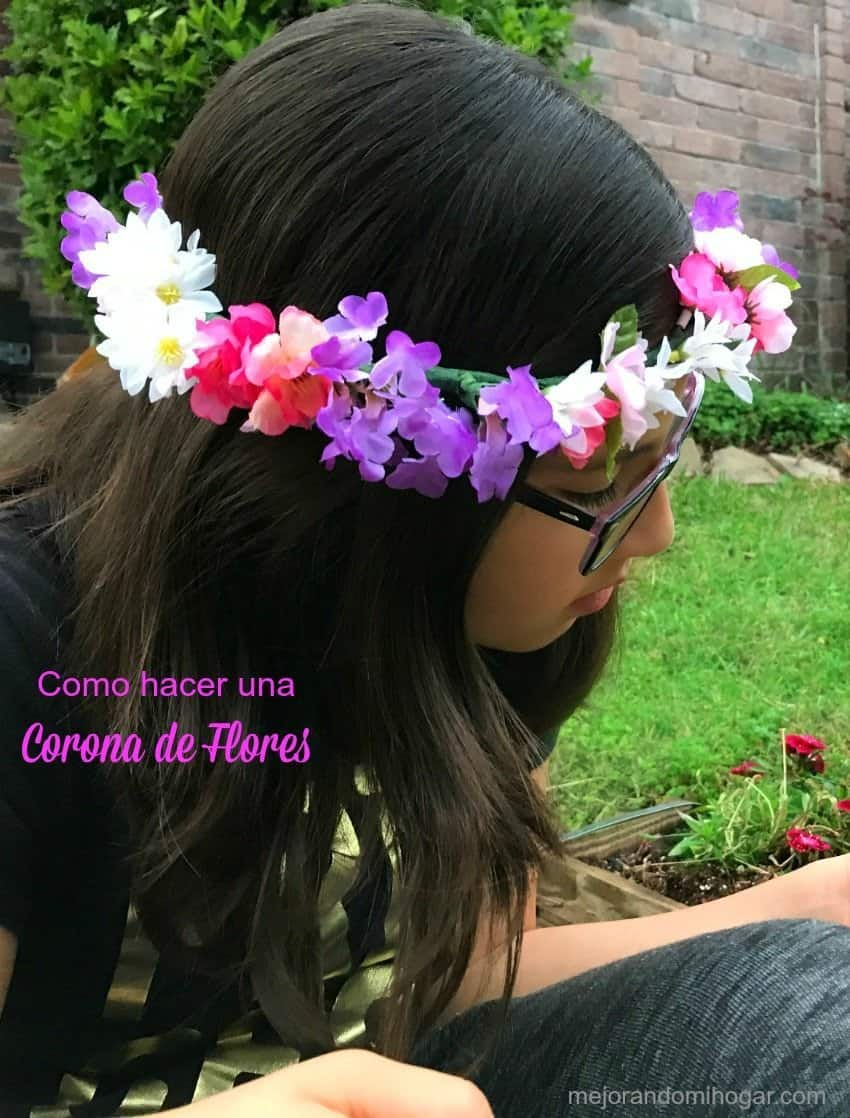Como hacer una Corona de Flores inspirada en Tangled Before Ever After