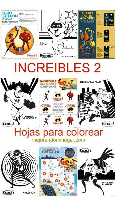 Incredibles 2 Increíbles 2 Mi Review Y Hojas Para Colorear