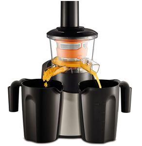 La Licuadora de prensado en frío Moulinex Infiny Juice ZU255B incluye dos jarras