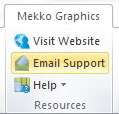 Contacting Support from Mekko Graphics Software