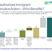 Cascade/Waterfall Chart Detailing Who Benefits from Immigration Proposals