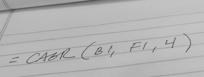 Handwritten CAGR Formula