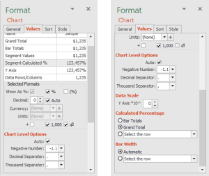 Format calculated percentage and choose row for calculation