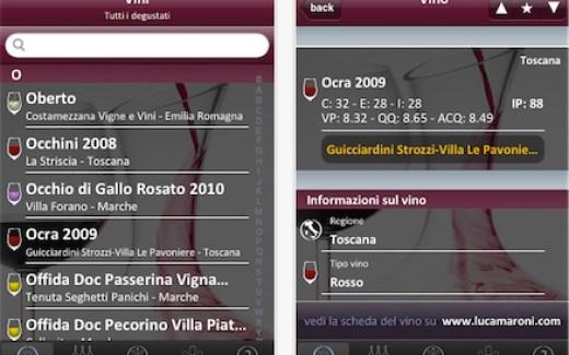 Annuario vini italiani 2012 appstore