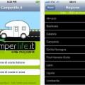 Camperlife applicazione AppStore