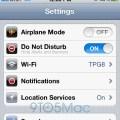 Toggle Do Not Disturb iOS 6.0