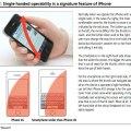 iPhone 5 usabilità dispositivo con una sola mano