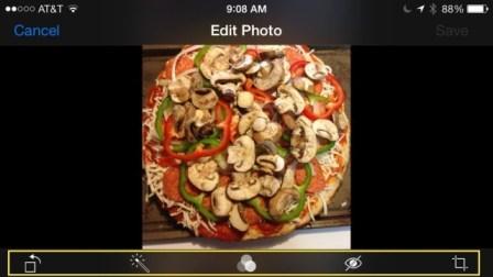 modifica foto iOS 7
