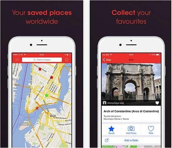 applicazione City Maps 2Go