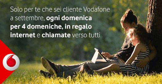 Vodafone domeniche in regalo