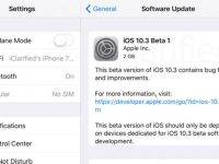 changelog iOS 10.3 beta