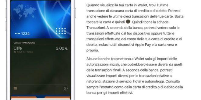 Apple Pay in Italia sta per arrivare? Modificata la pagina di supporto