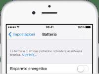 iOS 10.2.1 sostituire la batteria di iPhone