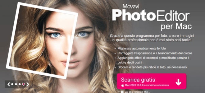 Movavi Photo Editor per Mac, rendi magiche le tue foto