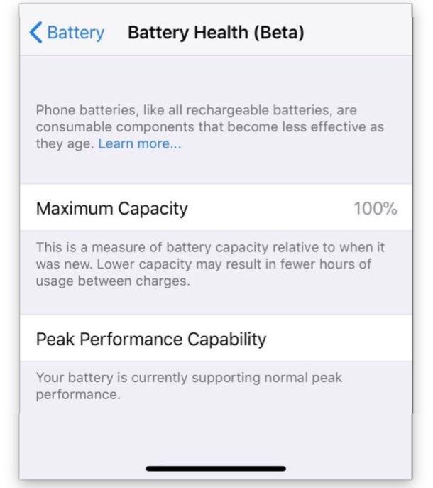 iOS 11.3 beta 2 gestione batteria