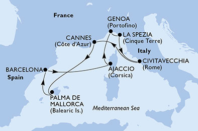 Itinerario Msc Seaview