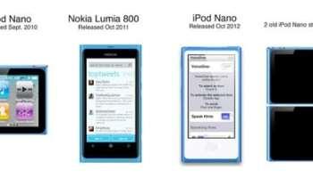 iPod Nano vs Lumia 800