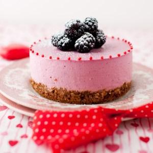 Blackberry No-Bake Cheesecake - Pre Valentine's Day Dessert