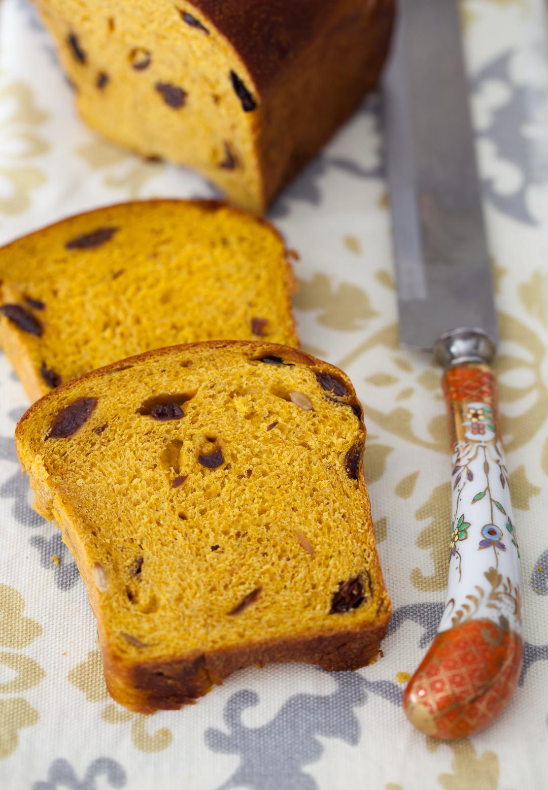 Pumpkin Bread With Raisins Dried Cherries Amp Pumpkin Seeds