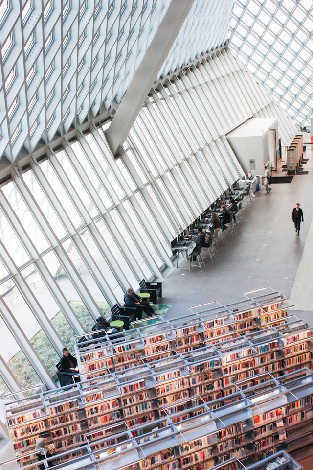 Seattle Public Library Designed By Rem Koolhaas  Melanie