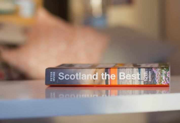 Scotland the best book on a table.