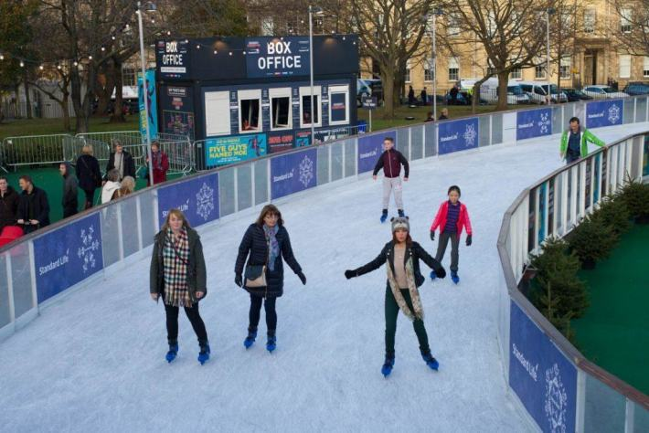 Ice Skating, Edinburgh, Christmas, Scotland Travel Guide