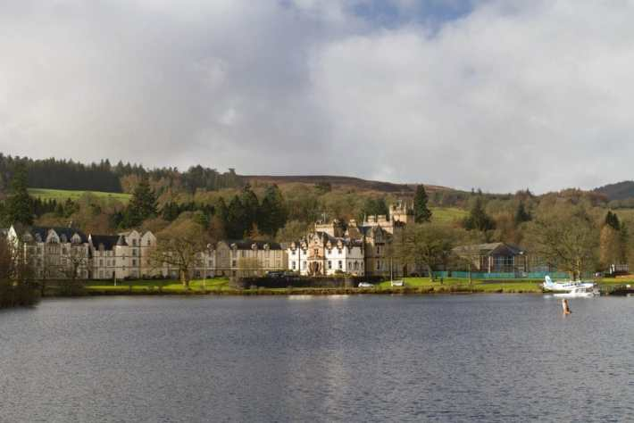Photo of Cameron House from on the water at Loch Lomond