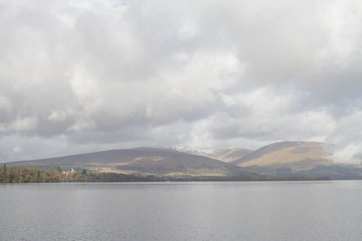 Photo of loch Lomond with the rolling hills in the background