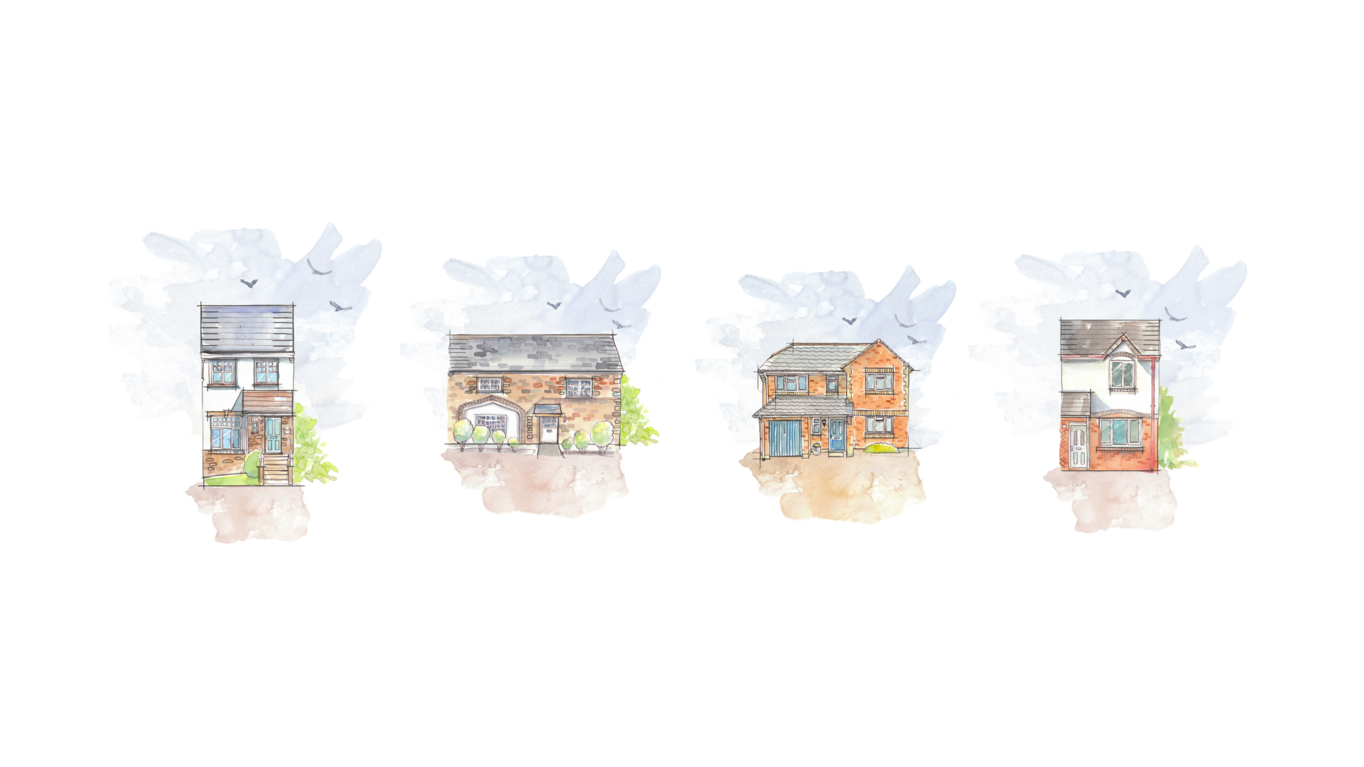 Bunnyhomes-houses-watercolour