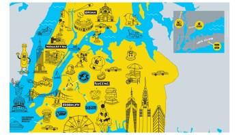illustration of new york map