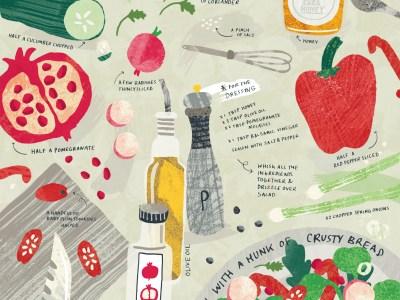 illustration of a food recipe