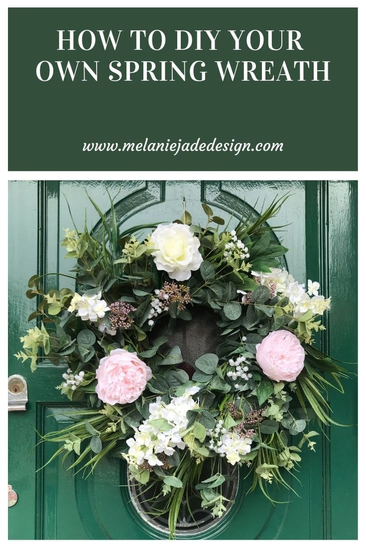 how to diy a spring wreath