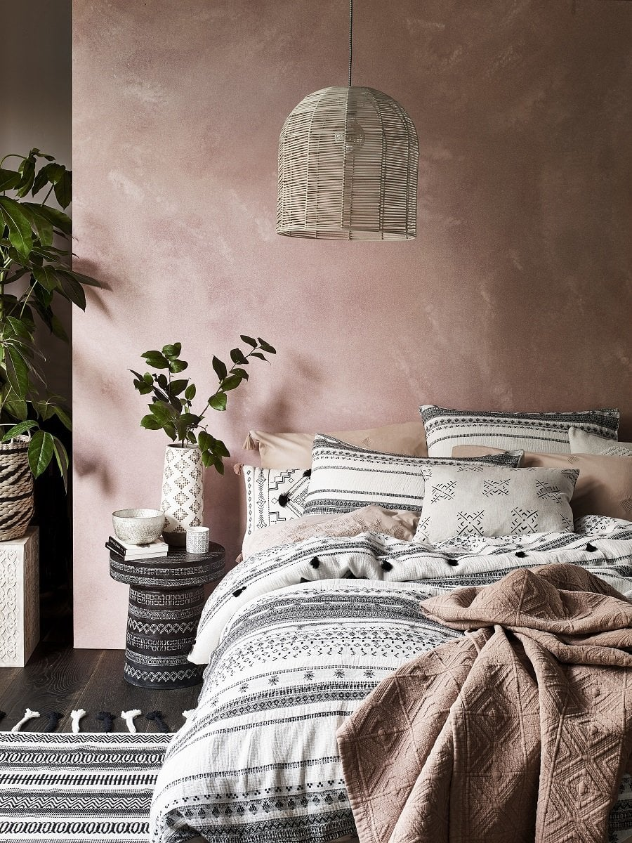 bedroom, colour, bedroom colour, color, colour inspiration, color inspiration, bedroom inspiration, bedding, shades, blue, green, pink, mustard, pink bedroom, grey bedroom, interiors, interior design, home decor