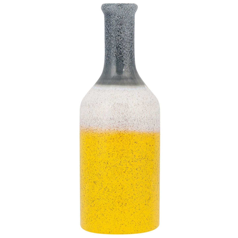 gri, beyaz ve sarı vazo