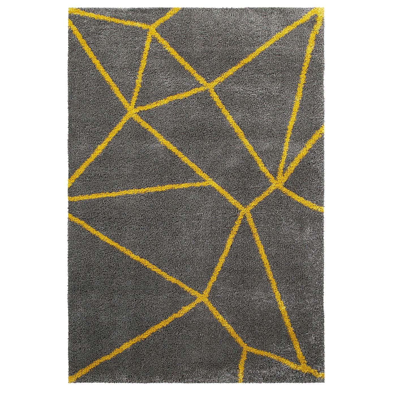 gri ve sarı geometrik halı