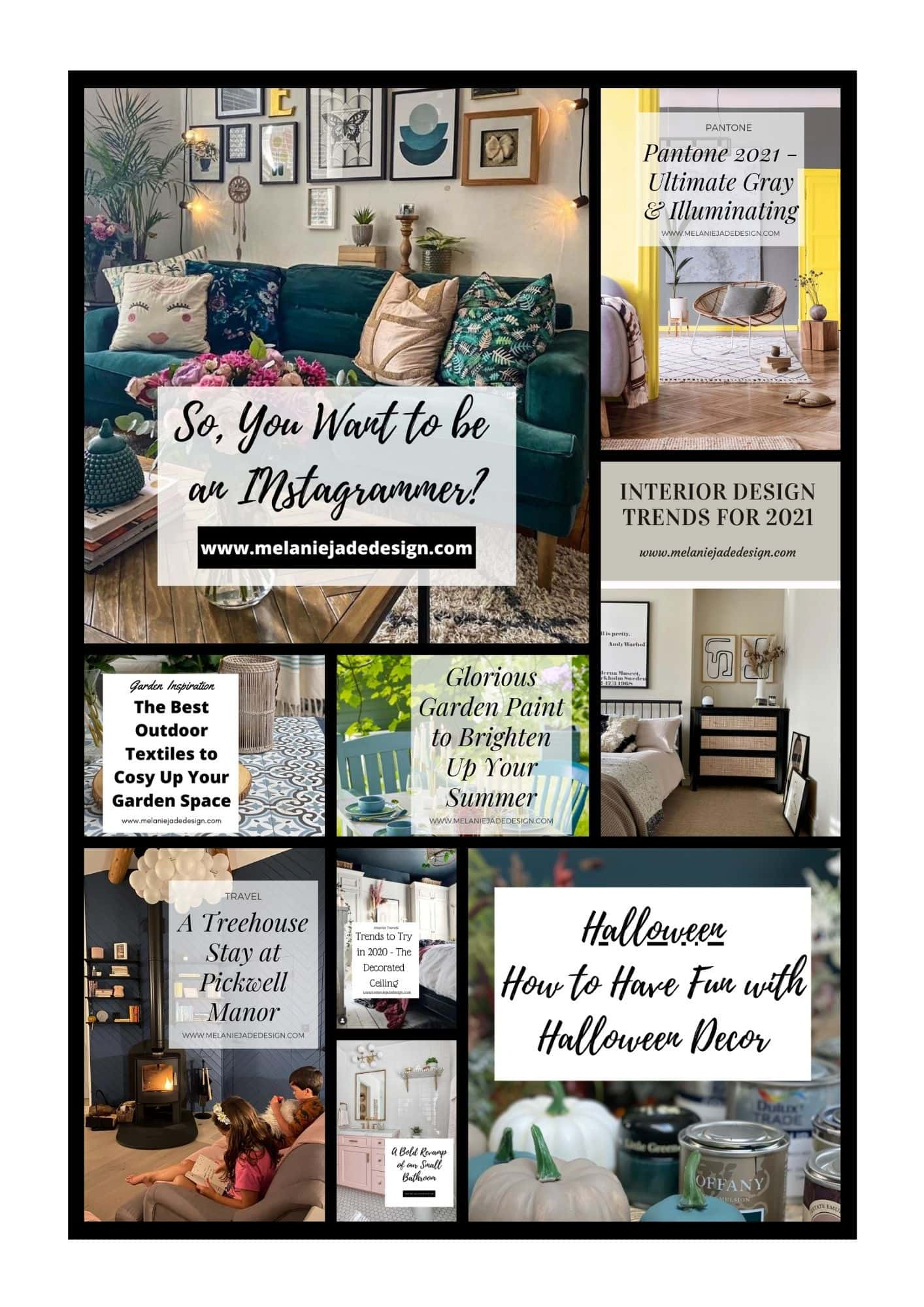 Lots of blog posts from melanie jade design