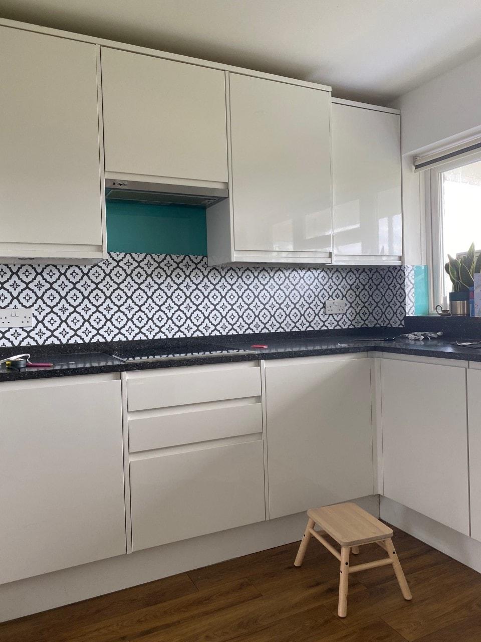 backsplash, padrão, cozinha