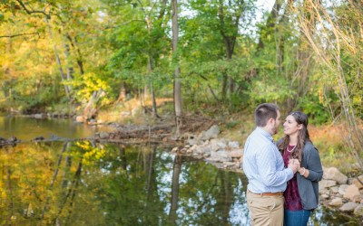 Alyssa + Nate || Warwick County Park Engagement Photos