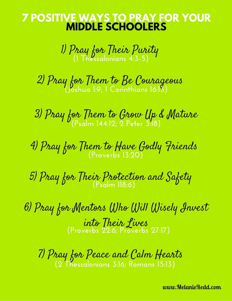 7 Positive Ways to Pray for Your Middle Schoolers 01b2a54b69