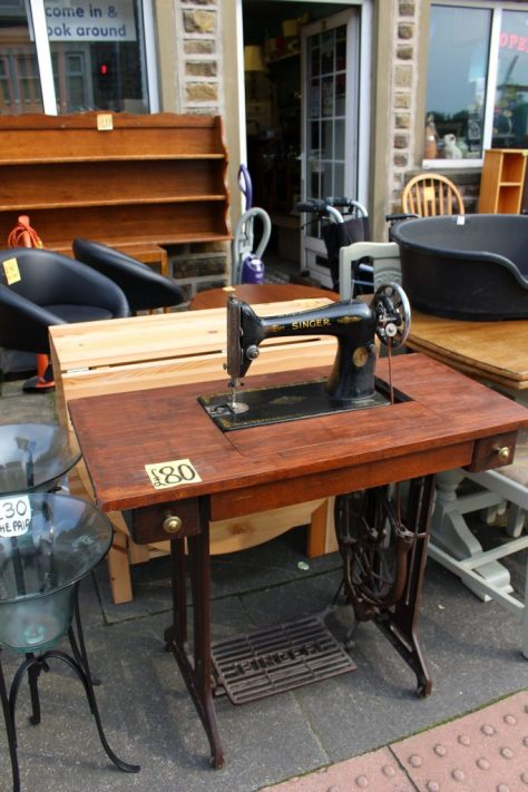 Singer treadle sewing machine across the street from Highfield Guest House