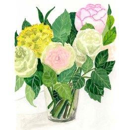Le bouquet d'Emma - Gouache