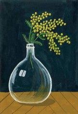 Mimosa - Gouache
