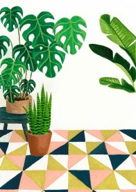 Patio - Gouache