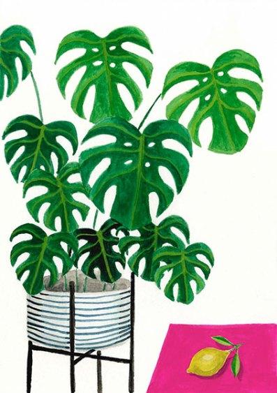 Philodendron - Gouache