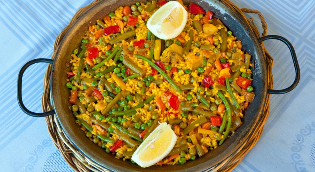 Paella di verdure  Melarossa